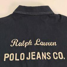 Ralph Lauren Polo Jeans Embroidered Button Short Sleeve Shirt Men's XL / L Blue