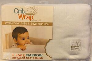 New Trend Lab Crib Wrap,Long ,White