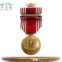 #63663 WWII US ARMY GOOD CONDUCT MEDAL RIBBON BAR LAPEL PIN NUMBERED WW2