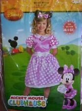 MINNIE Mouse Costume 4-6x NeW Pink SPARKLY Dress Headband EARS NeW