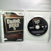Guitar Hero 5 (Nintendo Wii, 2009) Complete CIB Tested Working Near Mint
