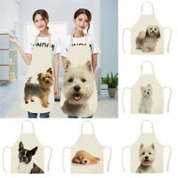Women Cute Dog Cat Waterproof Apron Kitchen Restaurant Cooking Bib Aprons Vest