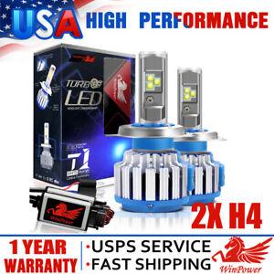2x H4 9003 LED Headlight Bulb Motorcycle CREE 70W 7200LM 6000K High Low Beam USA