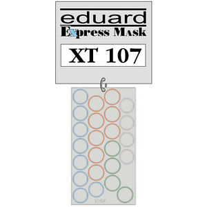 EDUARD XT107 - 1/35 Scale WHEEL PAINT MASK for TAMIYA TIGER I or STURMTIGER