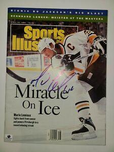 Mario Lemieux Autographed April 13, 1993 Sports Illustrated