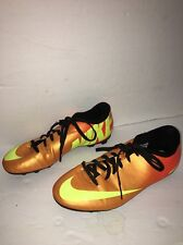 Youth Nike Mercurial Soccer Cleats Shoes Unisex Sz 5Y Vgc Orange Yellow-Cleaned