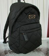 Authentic Marc Jacobs Black Quilted Nylon Backpack M0011321