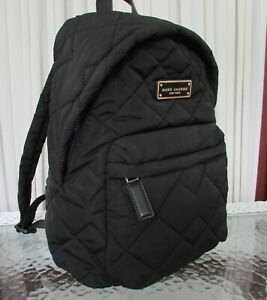 Marc Jacobs Nylon Quilted Backpack Black NWT