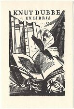 A. SIMON: Exlibris für Knut Dubbe, Schmetterling