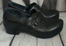 Dansko Black Slip On Clogs, Size 38, Nurse Shoes
