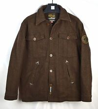Canada Goose Men's Brown Herringbone Button Peacoat Jacket Wool Medium M I25a