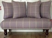Footstool Stool Plus 4 Cushions Laura Ashley Corby Amethyst Fabric