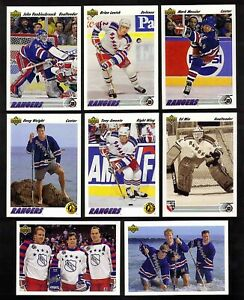 1991-92 Upper Deck New York Rangers Team Huge SET (41) Amonte Weight Kovalev RCs