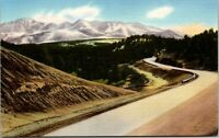 Vtg 1930's Pikes Peak, Ute Pass Highway, Woodland Park, Colorado CO Postcard