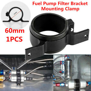 "Aluminium 60mm 2.2"" External Oil Fuel Pump Filter Bracket Mounting Clamp Cradle"