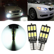 2x LAMPADE T10 12 LED 5630 SMD CANBUS NO ERROR LUCE POSIZIONE 6000K-6500K 360º