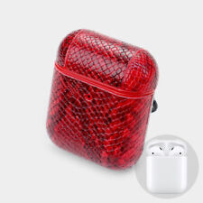 Stylish Red Snake Pattern Airpod Case (Airpods Not Included)