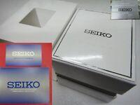SEIKO Empty Watch Box w/ warranty card booklet auto move't 7S26 7S35 7S36 manual