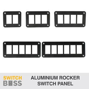 ALUMINIUM Rocker Switch Panel Housing - 1 2 3 4 5 6 8 Gang for 12v Car Marine