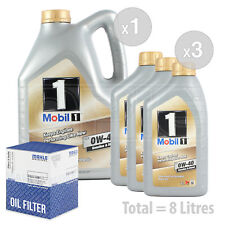 Engine Oil and Filter Service Kit 8 LITRES Mobil1 0w40 New Life Fully Syn 8L