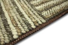 Tapis design Corbin 240x340 cm 100% laine tissé à la main marron