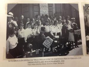 RIPRODUZIONE FOTO ALINARI SCOLARESCA DIVISA FIGLI LUPA VIAGGIO 9X12 CM 1938 (5)