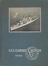 ☆ USS CLARENCE K BRONSON DD-668 WORLD DEPLOYMENT CRUISE BOOK YEAR LOG 1953-54 ☆