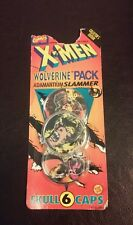 New 1994 X-Men Wolverine Pack Adamantium Slammer 6 Skull Caps Collector's...