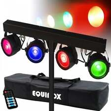 LED COB Par Bar Lighting Rail RGB Mixing DMX Mobile DJ Disco Light with Remote