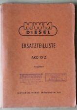 MWM Klein-dieslemotoren AKD 10 Z repuestos lista
