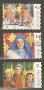 Australia: full set of 3 used stamps, Christmas, 1997, Mi#1673-5