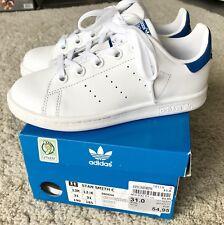 online store fbe33 569dd NEU adidas Stan Smith Schuhe Echtleder Sneaker in weiß blau Gr. 31, NEU