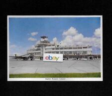 DUBLIN AIRPORT,IRELAND AIRPORT TERMINAL & AER LINGUS DC-3 1950'S POSTCARD