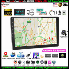 10''2 Din Android GPS Car Radio+Camera Wifi FM Touch BT Airplay iOS Mirror Link