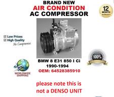 aire acondicionado CA Compresor para BMW 8 E31 850i CI 1990-1994 64528385910
