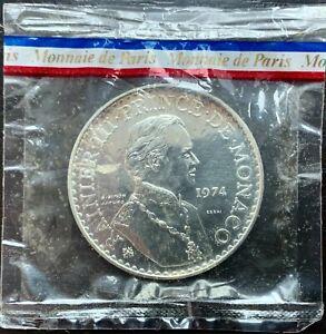 Monaco 50 Francs Silver 1974 Test - 1500 Copies