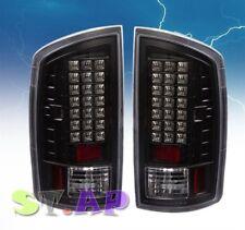 2007 2008 Dodge Ram 1500 2500 3500 Tail Light Led Signal Lamp 2Pcs Black Clear