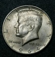 1964 90% Silver Kennedy Halve Dollar Coin One Year Type .723 Oz Of Fine Silver