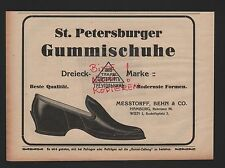 HAMBURG WIEN, Werbung 1912, Messtorff, Behn & Co. St. Petersburger Gummi-Schuhe