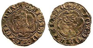 Spain- Enrique III(1390-1406). Blanca. Toledo. EBC/XF. Cobre 1,5 g. Perfecta