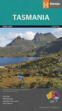 HEMA TASMANIA STATE MAP 3RD EDITION - NATIONAL PARKS- CAMPING