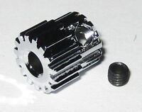 Duralumin 15 Tooth Pinion Gear for 3.17 mm Shafts - 48 Pitch - 15T - 3.17mm
