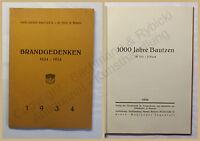 1000 Jahre Bautzen 3. Teil 2. Bd Brandgedenken 1934 Ortskunde Sachsen xy