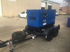 GGBQ 22KW/27.5 KVA SILENT  THREE PHASE DIESEL GENERATOR TRAILER MOUNTED