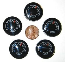 5 Small 25mm F'/C Button Thermometers for Survival Kits