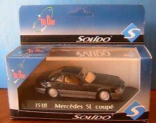 MERCEDES BENZ 500 SL COUPE HARD TOP BLACK SOLIDO 1518 1/43 CLOSED NOIRE NOIR