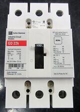 Cutler Hammer Industrial Circuit Breaker GD22K GD3100 100 Amp 480V NNB