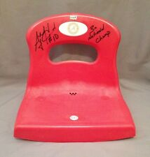 AJ McCarron SIGNED Bryant Denny Stadium Seat AUTO PHOTO PROOF Alabama Football