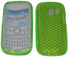 For Nokia Asha 302 / 3020 Pattern Gel Jelly Case Cover Protector Pouch GREEN New
