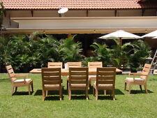 "Atnas 7 pc Dining 122"" Rectangle Table Chair Set Grade-A Teak Outdoor Patio New"
